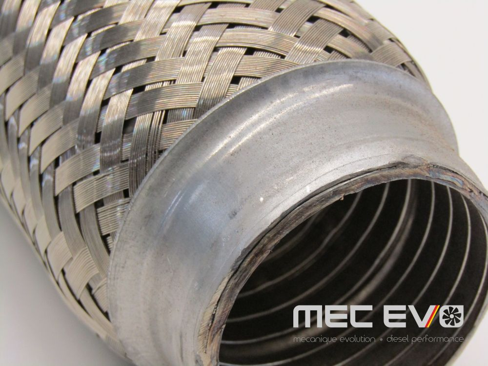 2.25'' X 10'' Interlock 304 Stainless Steel Exhaust Flexible