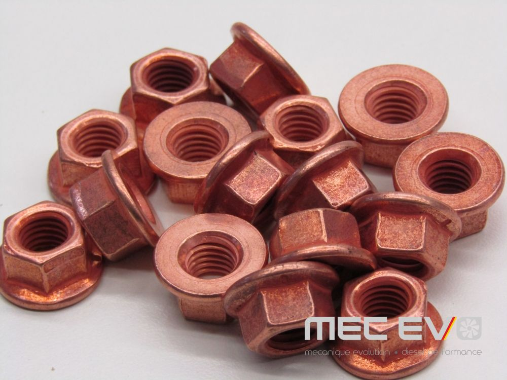Shouldered M8 Copper Lock Nut Kit