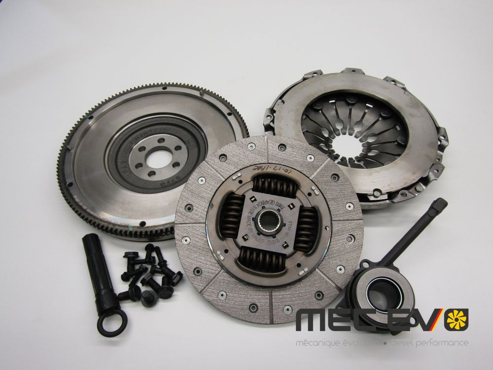 Performance Valeo single mass clutch kit + flywheel 240mm for 6 speed