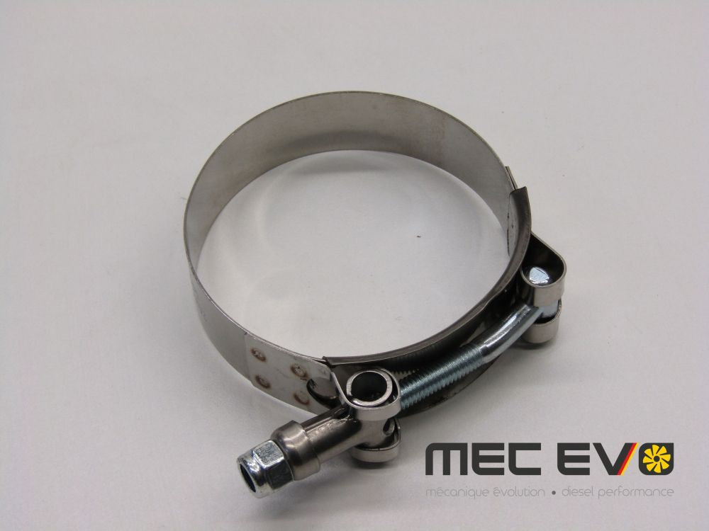 Stainless steel T-bolt clamp for 2.25'' Piping