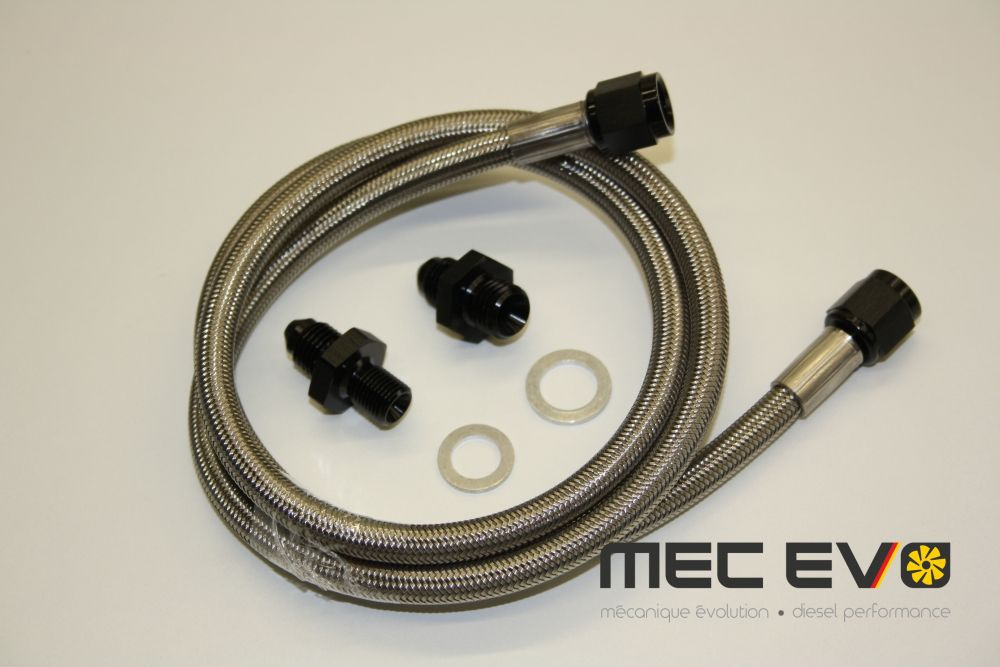 Stainless Steel braided oil feed line kit