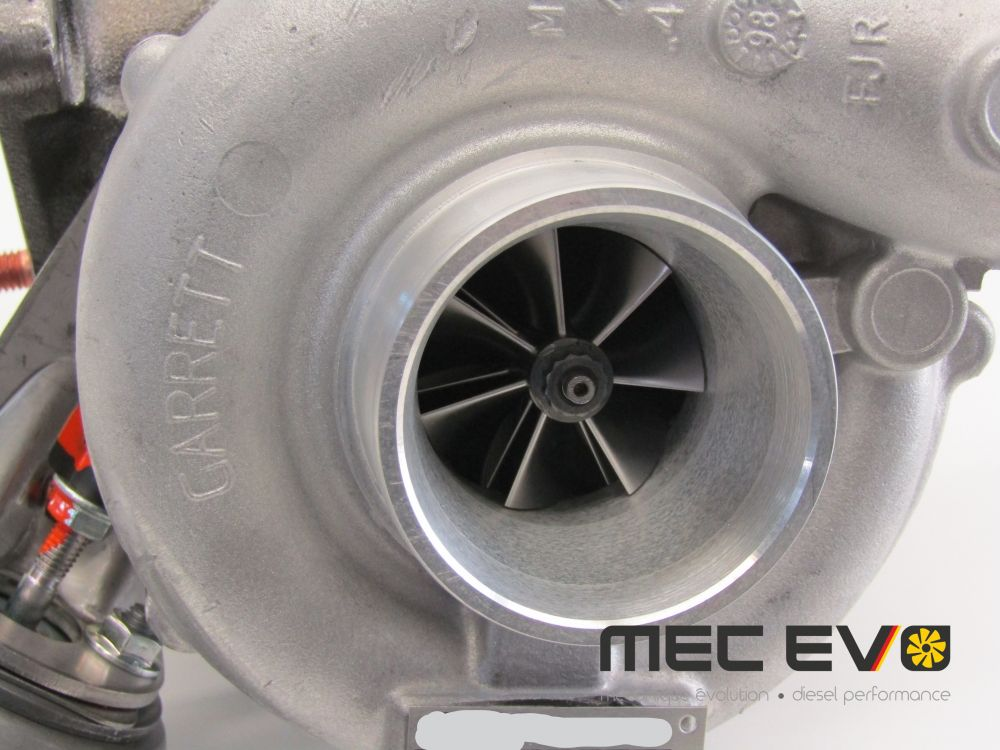 Garrett turbo gt1856+ with 7+7 billet wheel longitudinal